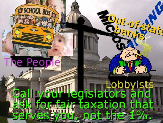 Olympia listens to the lobbyists for the 1%
