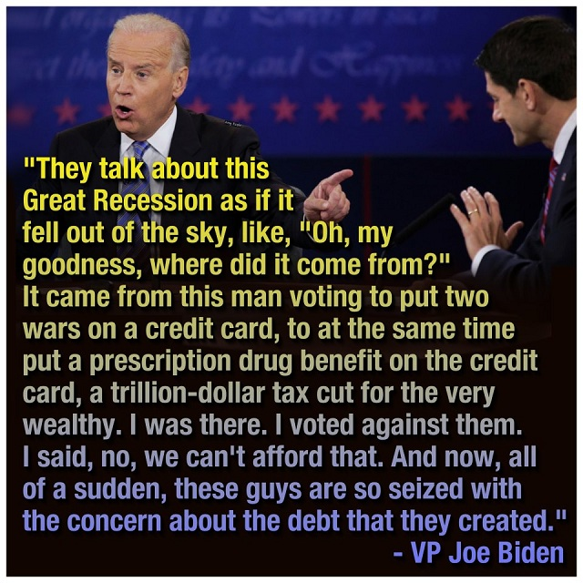 Joe Biden sets Paul Ryan straight