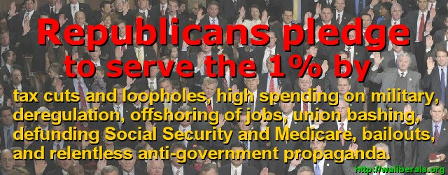 The Republican Pledge to destroy the middle class
