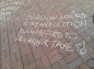 If you can afford to buy elections, you can afford to pay higher taxes!