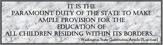 Washington State Constitution: paramount duty of the state is to educate all children