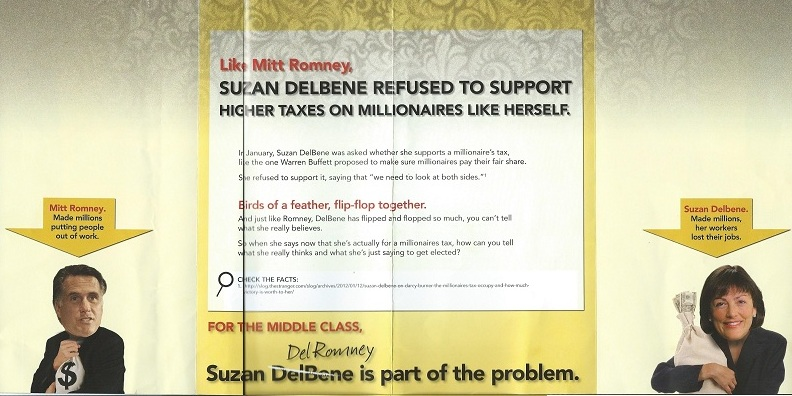 Anti-DelBene mailing from Laura Ruderman's mom