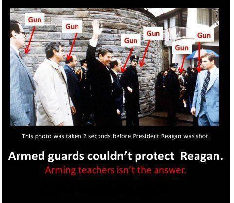 Armed police and Secret Service agents couldn't protect Reagan from a gunman