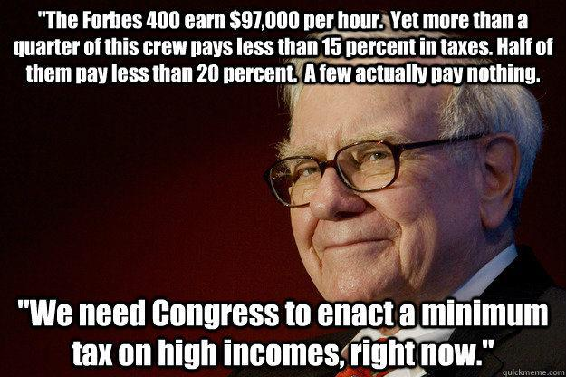Buffet on Taxes