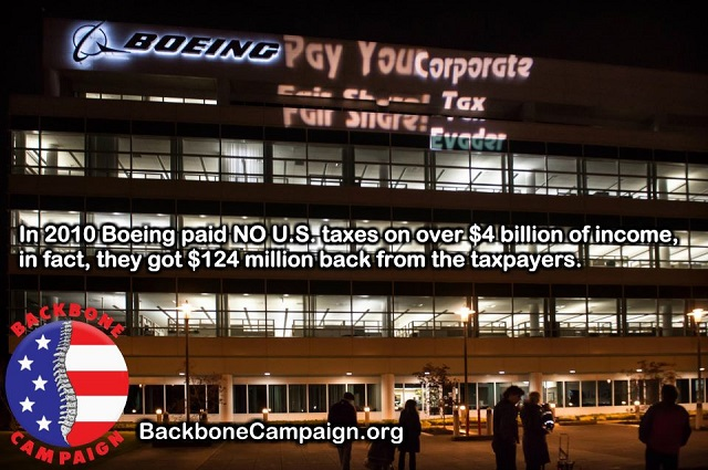 Boeing pay your fair share!