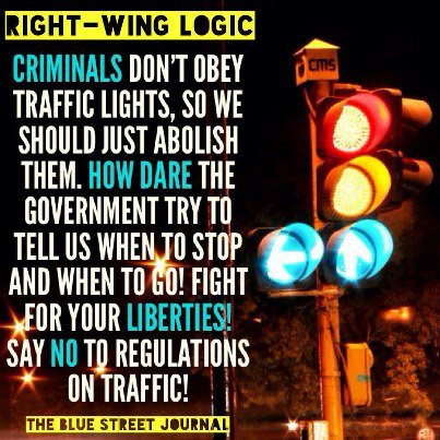 Criminals don't obey traffic lights, so abolish them?