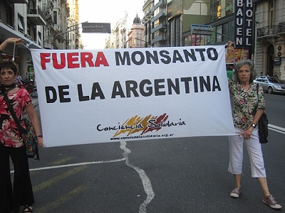 Anti-Monsanto protest in Argentina