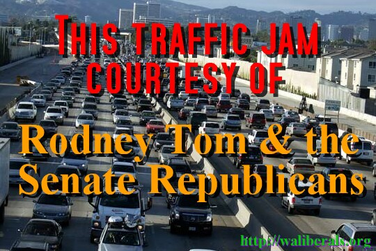 This traffic jam courtesy of Rodney Tom and the Senate Republicans